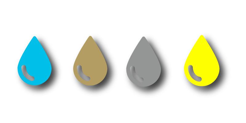 CMYK+ Ink Drops